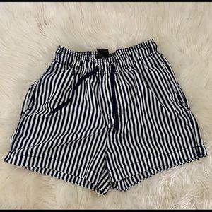 H&M swim shorts XS blue & white pinstripe
